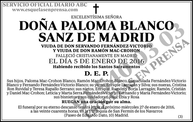 Paloma Blanco Sanz de Madrid